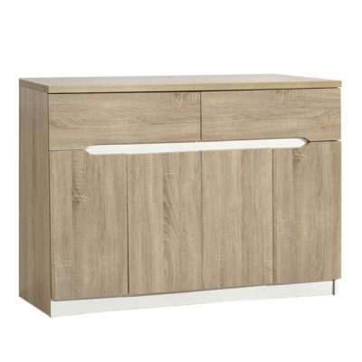 шкаф дъб санома с чекмеджета