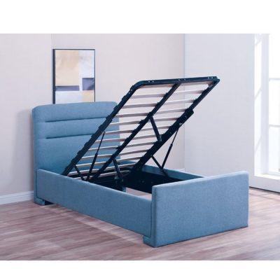 тапицирано-синьо-легло