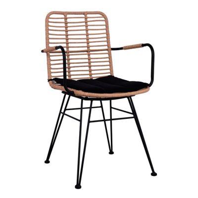 gradinski-stol-metalen-ratan